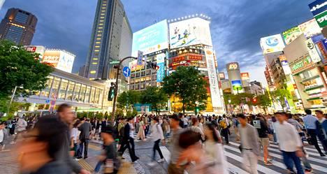 Shibuyan alue on vilkas liike-elämän keskus Tokiossa.