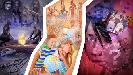 Ihmiskunnan kolme vaihetta Max Tegmarkin mukaan: dna:n, kulttuurin ja tekoälyn valtakausi.