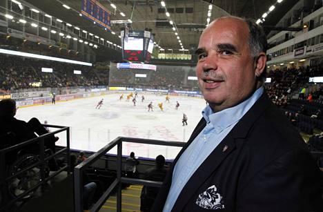 Mikko Leinonen on sekä Liiga-Tappara ry:n että Tamhockey Oy:n toimitusjohtaja. Kuva on syyskuulta 2017.