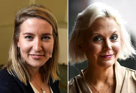Tutkija Johanna Vuorelma (vas.) ja dosentti Hanna Wass eivät näe, että mikään hallituspuolueista hyötyisi hallituksen eroamisesta.