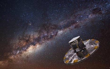 Kuvittajan näkemys Euroopan avaruusjärjestön Esan Gaia-teleskoopista.