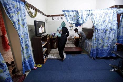 Naisvankeja Aljdaidan vankilassa Tripolissa syyskuussa 2015.