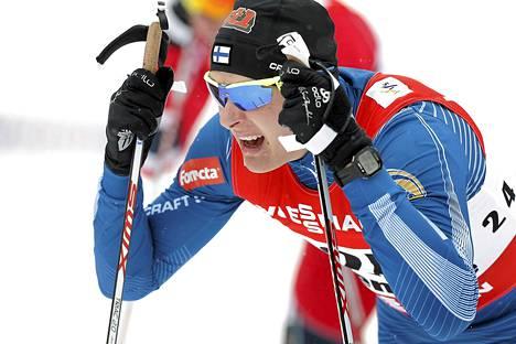 Toni Ketelä Val di Fiemmen hiihdon MM-kisoissa vuonna 2013.