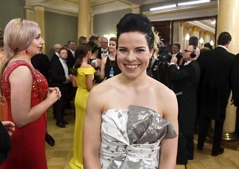 Krista Pärmäkoski osallistui torstaina Linnan juhliin ja matkusti Norjaan perjantaina.