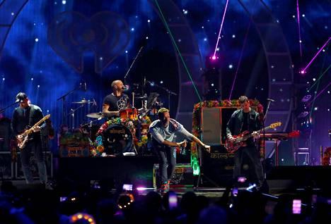 Coldplay esiintyi iHeartRadio -festivaalilla syyskuussa 2017 Las Vegasissa.