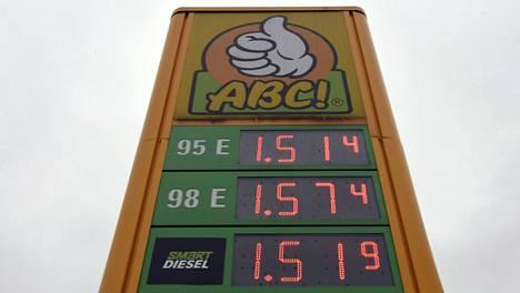 Dieselin hinta on jollain asemilla ohittanut jo 95e-oktaanisen bensiinin hinnan.