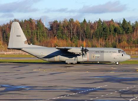 Harri Koskinen kuvasi Lockheed C-130J-30 Hercules -koneen Helsinki-Vantaalla viime lokakuussa.