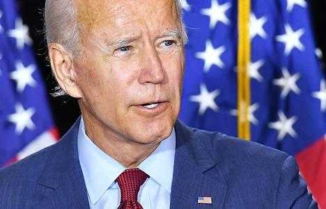 Joe Biden kuvattuna Delawaressa 13. elokuuta.