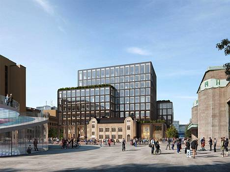 Esimerkiksi Albero-nimisessä ehdotuksessa Vltavan rakennus on integroitu osaksi uudisrakennusta.