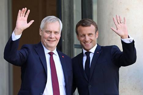 Antti Rinne ja Emmanuel Macron tapasivat keskiviikkona Pariisissa.