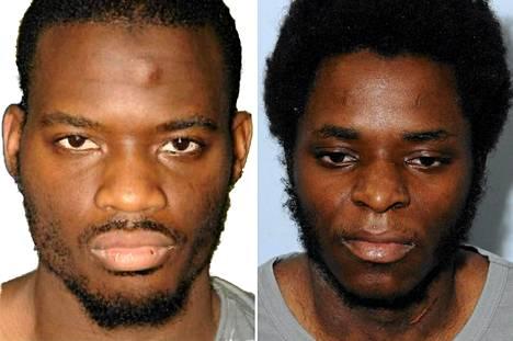Oikeus tuomitsi Michael Adebolajon (vas.) elinkautiseen. Hänen rikoskumppaninsa Michael Adebowale sai vähintään 45 vuoden vankeusrangaistuksen.