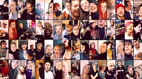Projektissa on mukana 150 suomalaismuusikkoa.