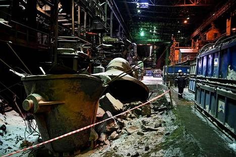 Nikkelisulaton toiminta on loppunut. Kuva Nornickelin tehtaalta 26. helmikuuta 2021.