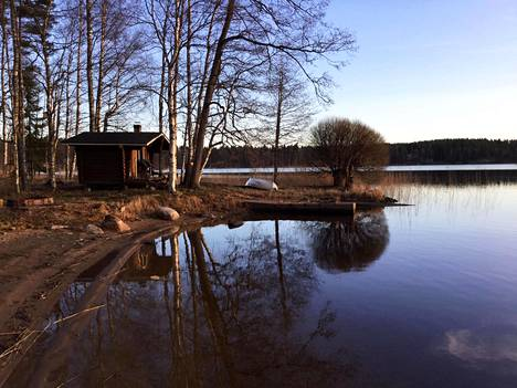 Ms. Ritva Ohmeroluoma's favorite sauna is located on the shores of Lake Saimaa.