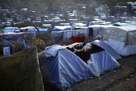 Morian pakolaisleiri Kreikan Lesboksella 11. maaliskuuta.