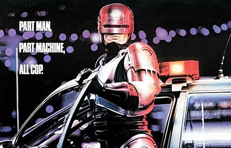 Osa Robocopin alkuperäisestä elokuvajulisteesta.