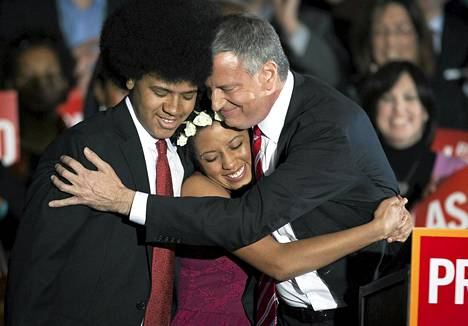 Bill de Blasio halasi tytärtään Chiaraa ja poikaansa Dantea tultuaan valituksi New Yorkin pormestariksi marraskuussa.