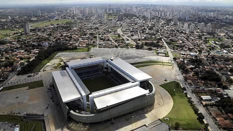 Cuiaban stadion alkaa olla viivästysten jälkeen valmis MM-kisoihin.