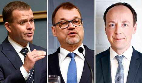 Petteri Orpo, Juha Sipilä ja Jussi Halla-aho.