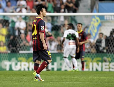 Lionel Messi oli vaisu mestaruuden ratkaisseessa ottelussa.
