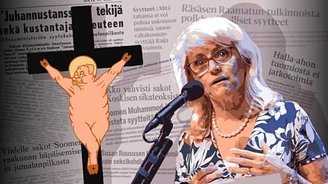Taiteilija Harro Koskisen Sikamessias-teos toi hänelle lainvoimaisen tuomion jumalanpilkasta vuonna 1974. Päivi Räsäsen viharikossyytteitä arvioidaan käräjillä lähitulevaisuudessa.