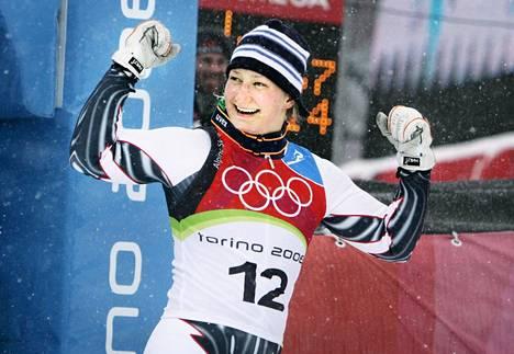 Sport Fund -rahaston hallitukseen kuuluva Tanja Poutiainen voitti olympiahopeaa Torinossa vuonna 2006.