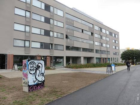 Asunto-osakeyhtiö Helsingin Hohdon talojen piti alunperin olla kitin värisiä.