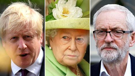 Britannian pääministeri Boris Johnson (vas.) on pyytänyt kuningatar Elisabetia pysäyttämään parlamentin työn. Oppositiojohtaja Jeremy Corbyn ilmoitti olevansa tyrmistynyt Johnsonin hallituksen vastuuttomuudesta.