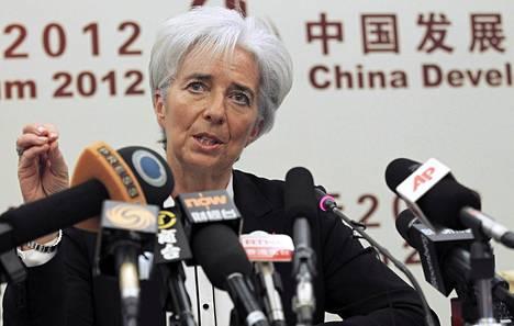 Lagarde puhui sunnuntaina Pekingissä.