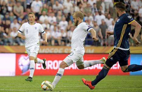 Pukki scored Finland's goals when Bosnia and Herzegovina fell in Tampere in the European Championship qualifier in June 2019.