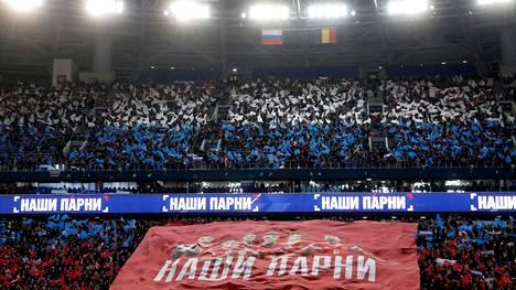 Venäläiskannattajat pääsevät todennäköisesti näkemään Belgia-ottelun Pietarin jalkapallostadionilla myös EM-lopputurnauksessa. Karsinnoissa Belgia haki Pietarista 1–4-vierasvoiton.