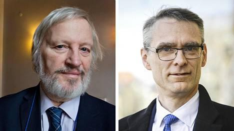 Ilkka Niiniluoto (vas.) ja Tuomas Pöysti.
