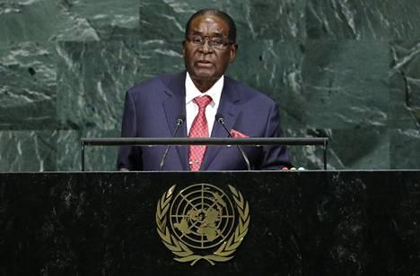 Zimbabwen presidentti Robert Mugabe osallistui YK:n yleiskokoukseen New Yorkissa Yhdysvalloissa syyskuussa.
