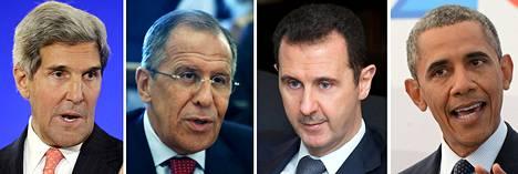 John Kerry, Sergei Lavrov, Bashar al-Assad ja Barack Obama