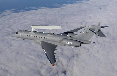 Saab tarjoaa Suomelle Gripen-hävittäjän lisäksi tällaisia Global Eye -valvontalentokoneita.