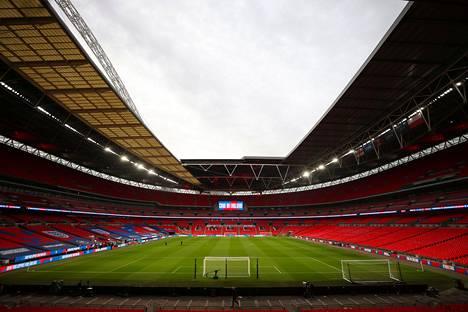 Yleisön paluuta katsomoihin testataan Wembleyn stadionilla.