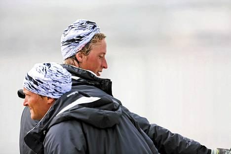 Niklas ja Joonas Lindgren. Kuva Lontoon olympialaisista vuodelta 2012.