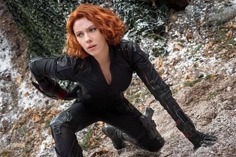 Scarlett Johanssonin esittämän Black Widow'n eli Natasha Romanoffin oma elokuva ilmestyy toukokuussa. Kuva elokuvasta Avengers: Age of Ultron (2015).