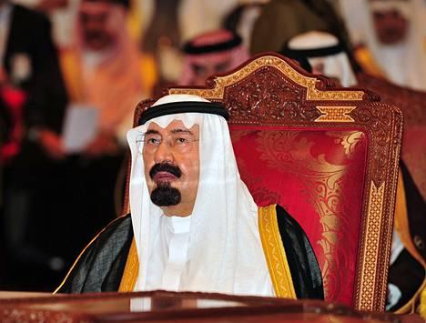 Saudi-Arabian kuningas Abdullah.