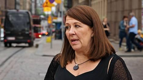 Mari Vaattovaara Helsingin keskustassa viime toukokuussa.