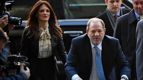 Harvey Weinstein saapui paikan päälle oikeuden käsittelyyn helmikuussa New Yorkissa.