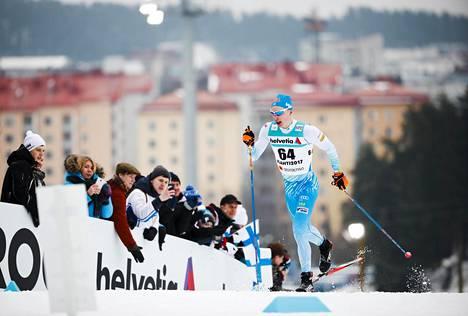 Iivo Niskanen taivalsi kohti MM-kultaa Lahden MM-hiihdoissa vuonna 2017.