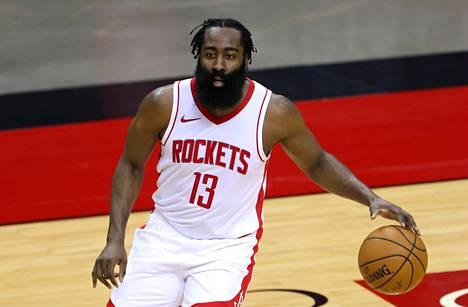 James Harden siirtyy pelaamaan Brooklyn Nets NBA-joukkueseen. Kuvassa Harden joulukuussa 2020 vielä Houston Rocketsin paidassa.