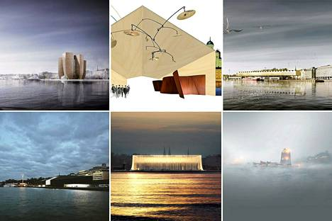 Guggenheim Helsinki -arkkitehtuurikilpailun finalistit.