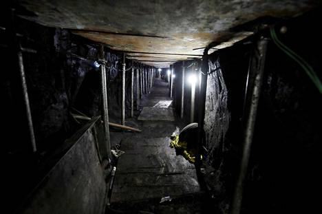 Pankkirosvojen kaivamassa yli puoli kilometriä pitkässä tunnelissa oli valaistus ja ilmanvaihto.