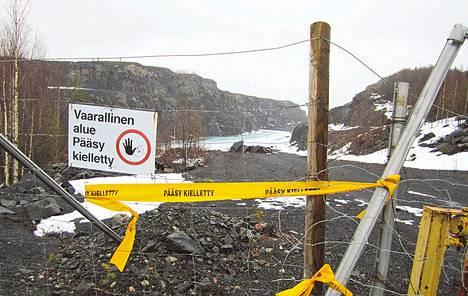Mustavaaran kaivos on ollut suljettu vuodesta 1985.