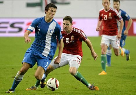 Roman Eremenko pelasi täydet minuutit Unkaria vastaan perjantaina.