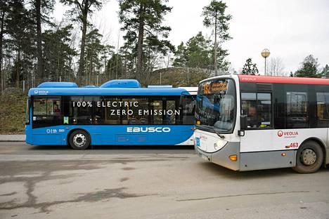 HSL:n tavoitteena on, että vuonna 2018 seudulla liikkuvista busseista kahdeksan prosenttia eli noin sata voisi olla sähköbusseja.