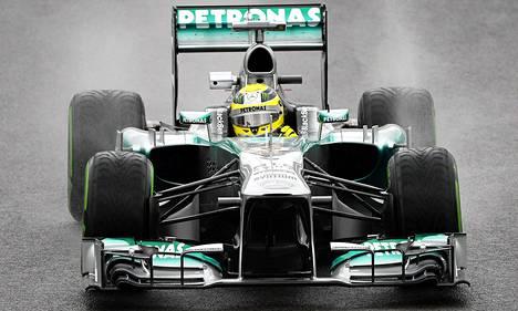 Nico Rosberg vauhdissa.