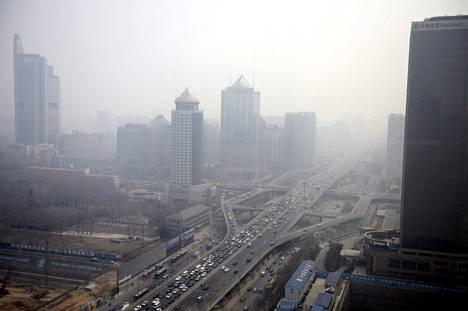 Savusumua Pekingissä Kiinassa 8. huhtikuuta 2013.